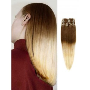 100 Remy Human Hair Silky Brown to Blonde