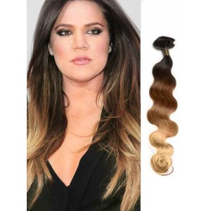 Black Body Wave Remy Ombre Hair Extensions