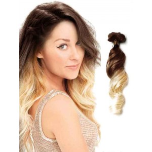 Brown to Blonde Loose Wave Ombre Hair Extensions