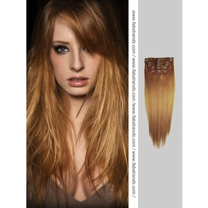 Golden Brown Clip In Hair Extensions