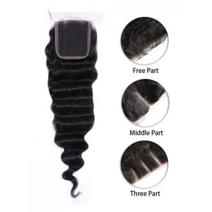 Malaysian Deep Wave Silk Top Closure
