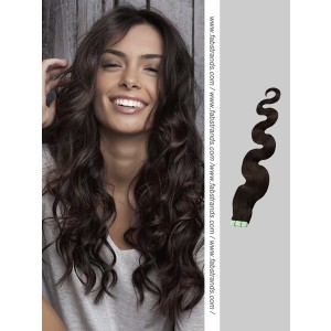 Natural Black Wavy Tape in Hair Extensions