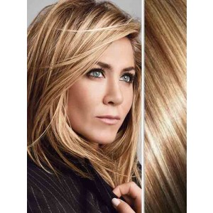 Natural Straight Highlights Blonde Hair Extensions