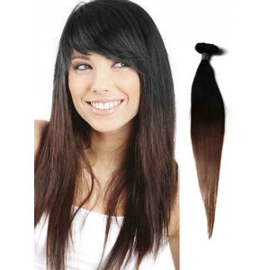 Silky Straight Black Remy Ombre Hair Extensions