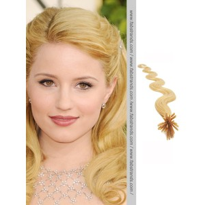 Wheat Blonde Wavy Stick Tip Hair Extensions