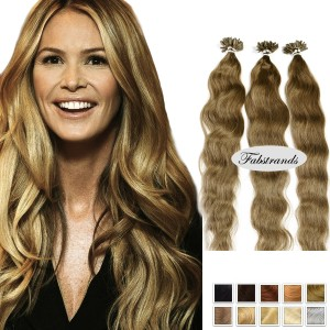 Ash Brown Wavy Pre Bonded Hair Extension
