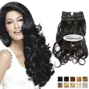 Black Wavy Clip In Hair Extensions