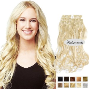 Bleach Blonde Clip In Hair Extension