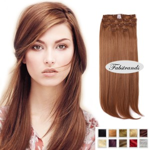 Bronzed Brown Clip in Hair Extensions