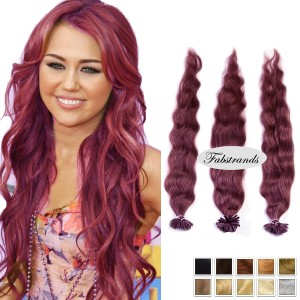 Burgundy Fusion Hair Extensions