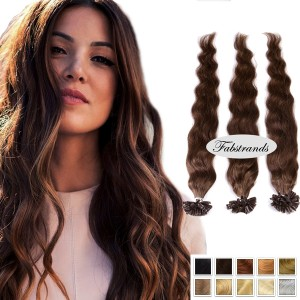 Chocolate Brown Pre Bonded Hair Extension