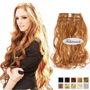 Golden Blonde Wavy Clip In Hair