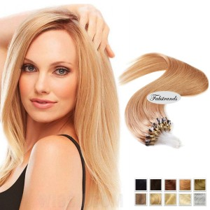 Light Brown Micro Loop Human Hair Extensions