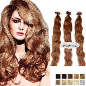 Medium Brown Fusion Hair Extensions Body Wave