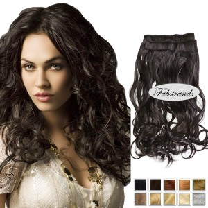 Natural Black Wavy Clip In Hair Extensions