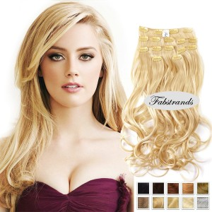 Platinum Blonde Clip In Hair Extensions