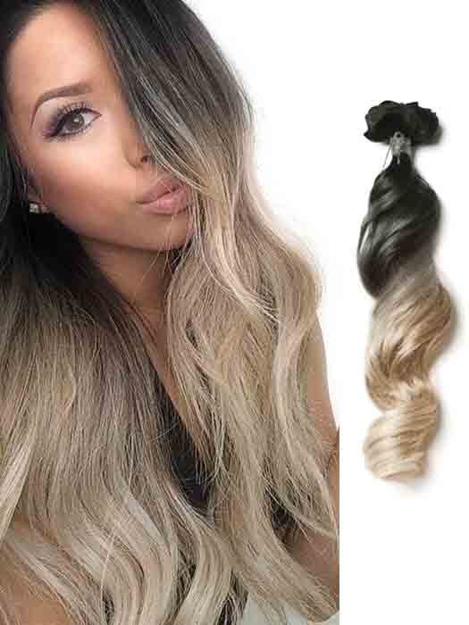 Blond Hair Extensions Blond Ombre Clip In Hair Extensions