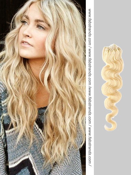 Wavy Blonde Tape Hair Extensions 104