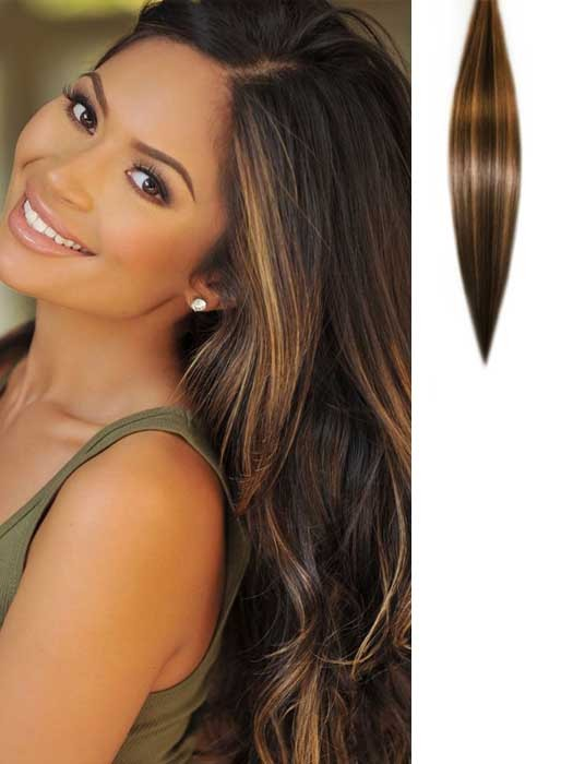 Brown Hair Extensions Clip In Brown Clip In Human Hair Extensions