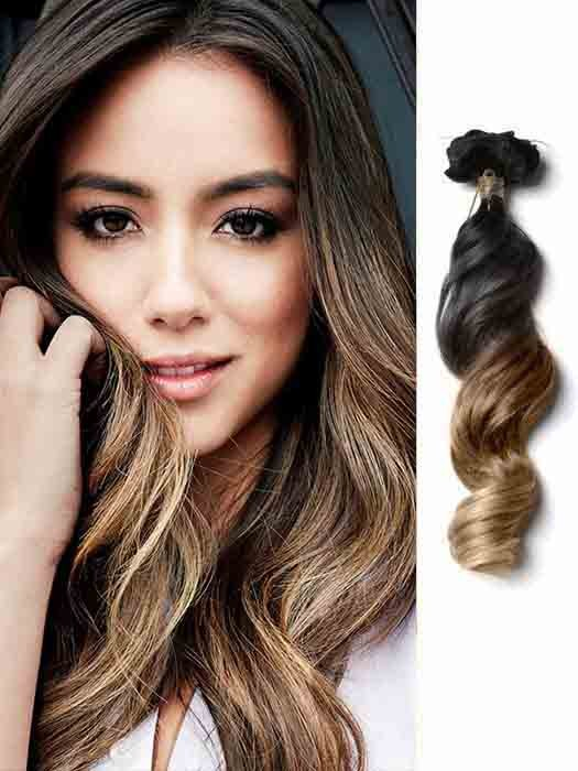 loose wave ash brown ombre hair extensions