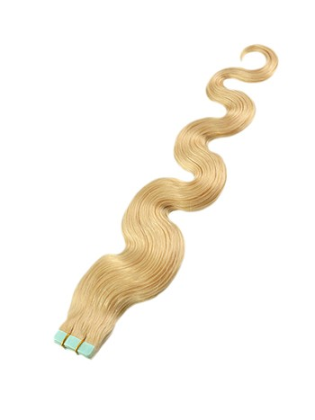 Wavy Blonde Tape Hair Extensions 85