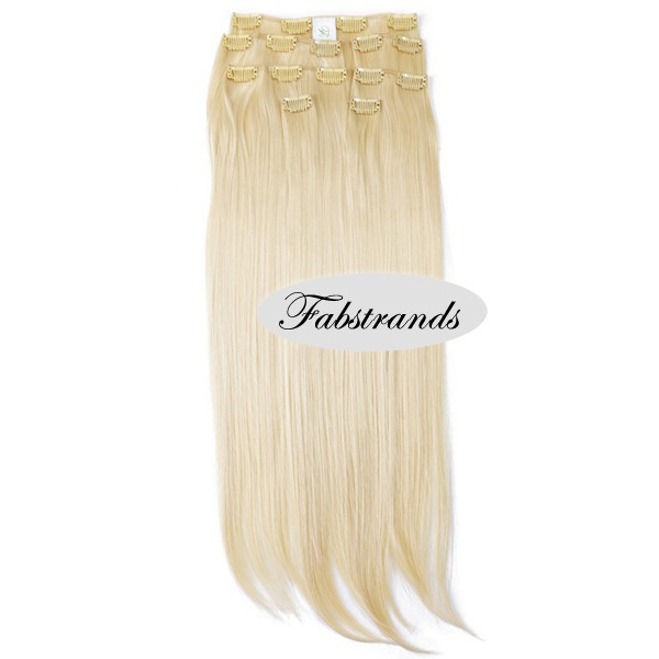 Bleach Blonde Clip In Hair Extensions For Sale