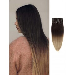 100 Remy Human Hair Silky Straight Black to Brown