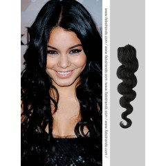 Black Wavy Micro Loop Hair Extensions