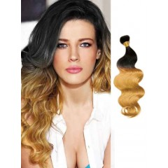 Black to Blonde Loose Wave Ombre Hair Extensions