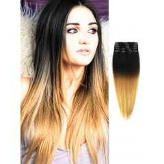 Black to Blonde Silky Cheap Ombre Hair Extensions