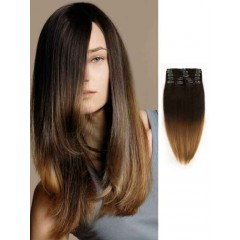 Black to Brown Ombre Hair Extensions