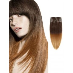 Brown Silky Straight Ombre Hair Extensions