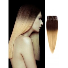 Brown to Blonde Cheap Ombre Hair Extensions