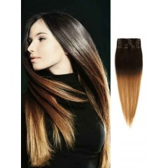 Cheap Black and Brown Ombre Hair Extensions