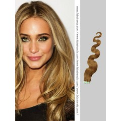 Chestnut Brown Wavy Tape in Hair Extensions