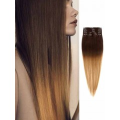 Chocolate Brown Remy Ombre Hair Extensions