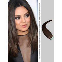 Dark Brown Tape in Hair Extensions
