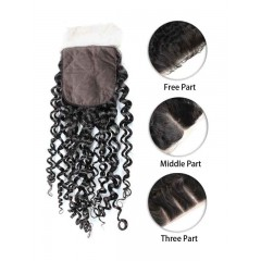 Indian Curly Silk Top Closure