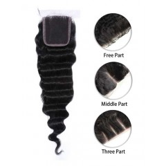 Indian Deep Wave Lace Top Closure