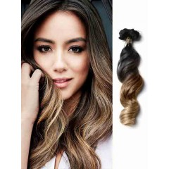 Loose Wave Black and Brown Ombre Hair Extensions