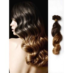 Loose Wave Black to Brown Ombre Hair Clip ins
