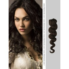 Natural Black Wavy Micro Loop Hair Extensions