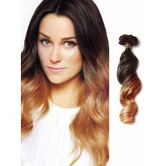 Remy Human Hair Loose Wave Black to Brown