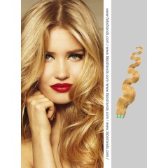Strawberry Blonde Wavy Tape in Hair Extensions