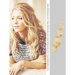 Wheat Blonde Wavy Tape in Hair Extensions