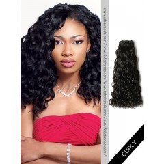 Black Curly Remy Hair Weaves