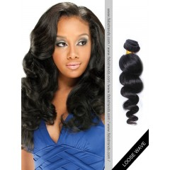 Black Loose Wave Remy Hair Weaves