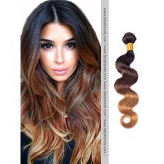 Black to Brown Body Wave Ombre Hair Wefts