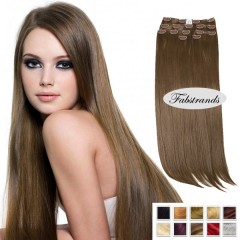 Chestnut Brown Clip In Hair Extensions