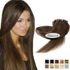 Chestnut Brown Micro Loop Human Hair Extensions